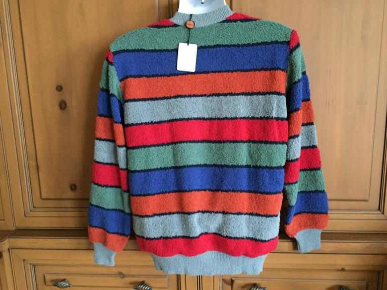 96eca2737d51 Missoni Uomo Vintage 80 s Mens Horizontal Stripe Sweater New with Tags.  This is a great