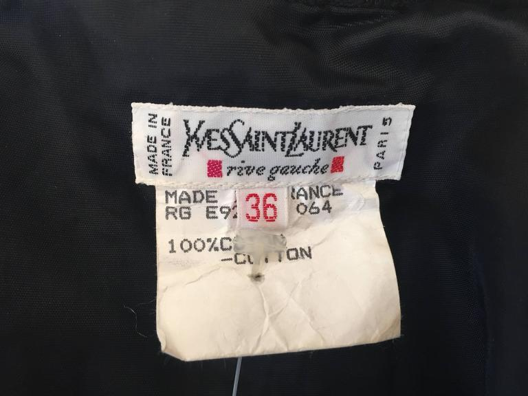 Yves Saint Laurent 1970's Rive Guache Cotton Off the Shoulder Dress For Sale 5