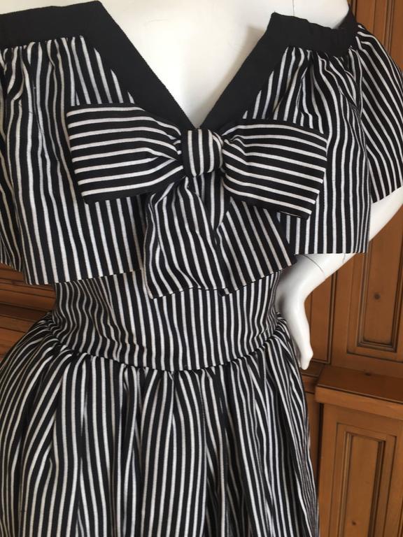 Yves Saint Laurent 1970's Rive Guache Cotton Off the Shoulder Dress 8