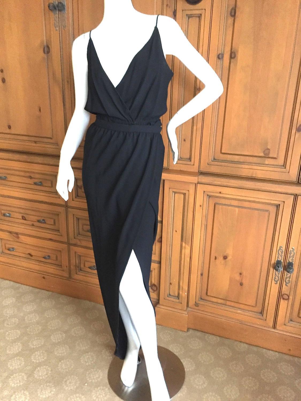 Halston 1970's Disco Era Black 2pc Dress For Sale at 1stdibs