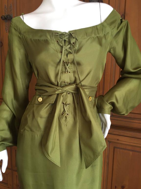 Brown Tom Ford for Yves Saint Laurent Silk Safari Dress For Sale