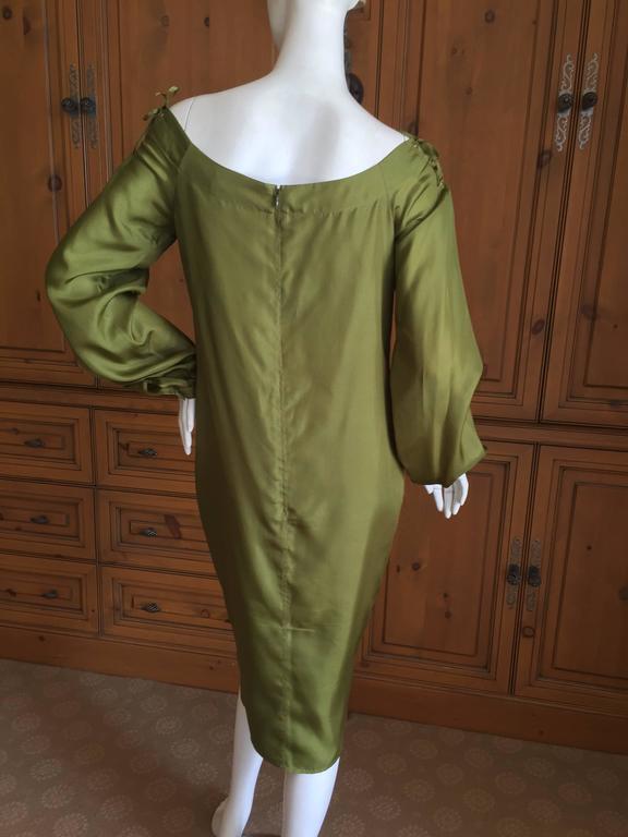 Tom Ford for Yves Saint Laurent Silk Safari Dress For Sale 1