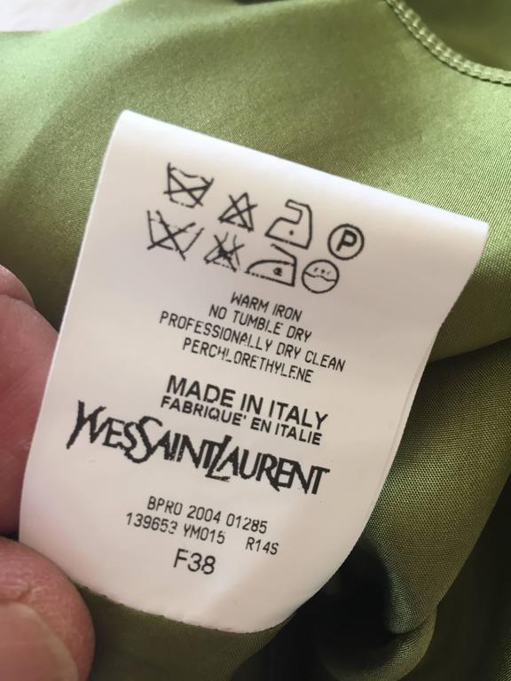 Tom Ford for Yves Saint Laurent Silk Safari Dress 4