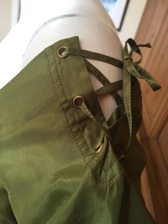 Tom Ford for Yves Saint Laurent Silk Safari Dress For Sale 3