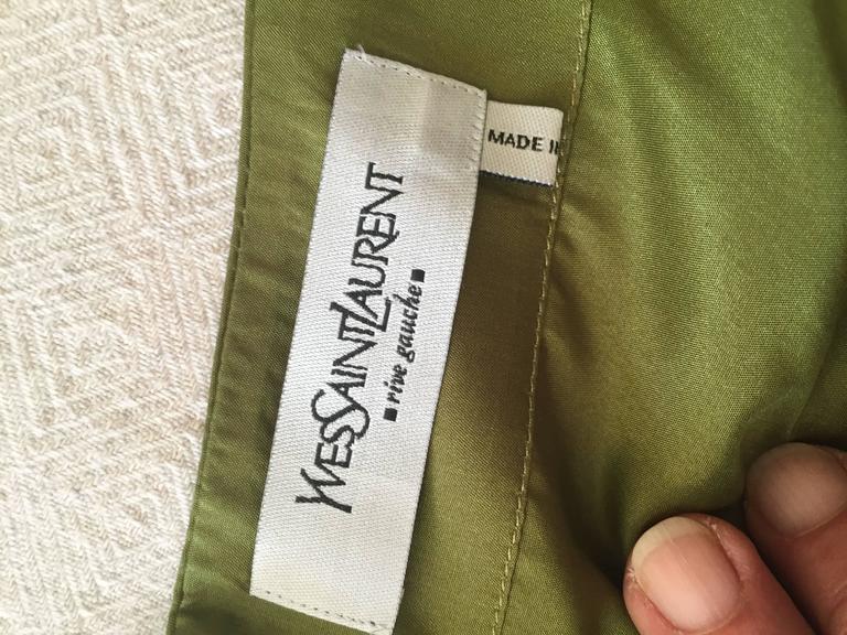 Tom Ford for Yves Saint Laurent Silk Safari Dress 9