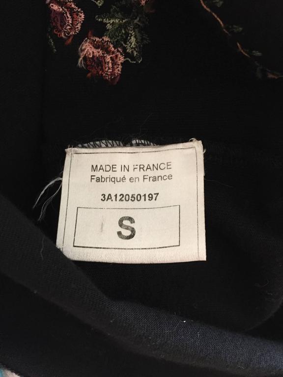 John Galliano Fur Trim Cheosam Top In Excellent Condition For Sale In San Francisco, CA