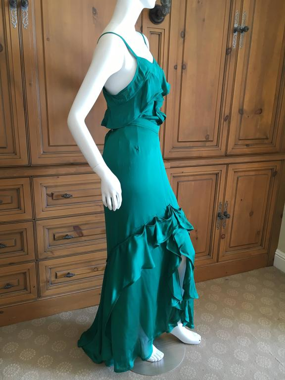 Yves Saint Laurent by Tom Ford 2003 Two Piece Ruffled Silk Dress New with Tags 4