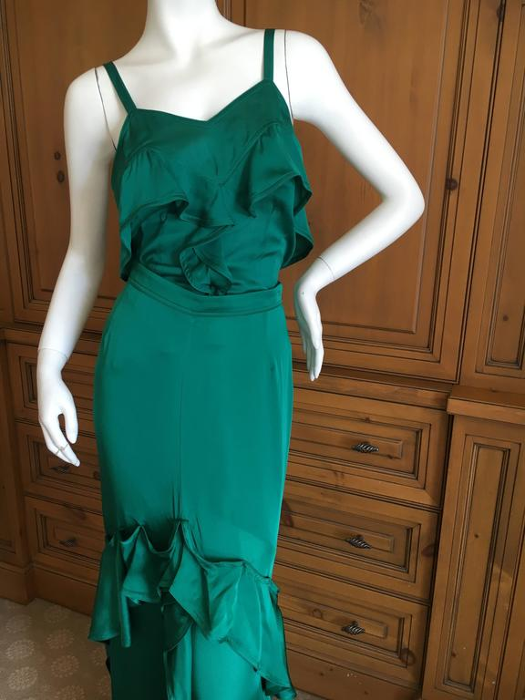 Yves Saint Laurent by Tom Ford 2003 Two Piece Ruffled Silk Dress New with Tags 2