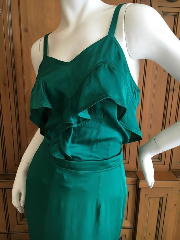 Yves Saint Laurent by Tom Ford 2003 Two Piece Ruffled Silk Dress New with Tags 3