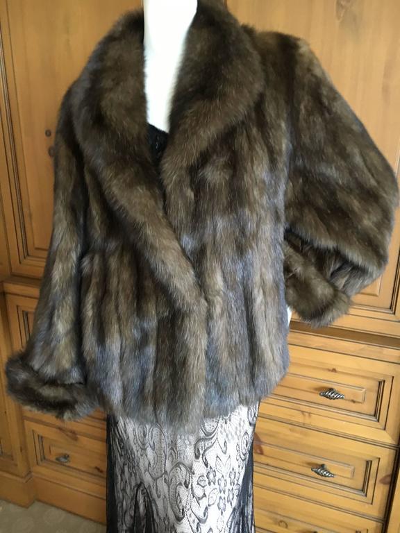 Revillon Paris Russian Barguzine Sable Short Fur Coat XXL ...