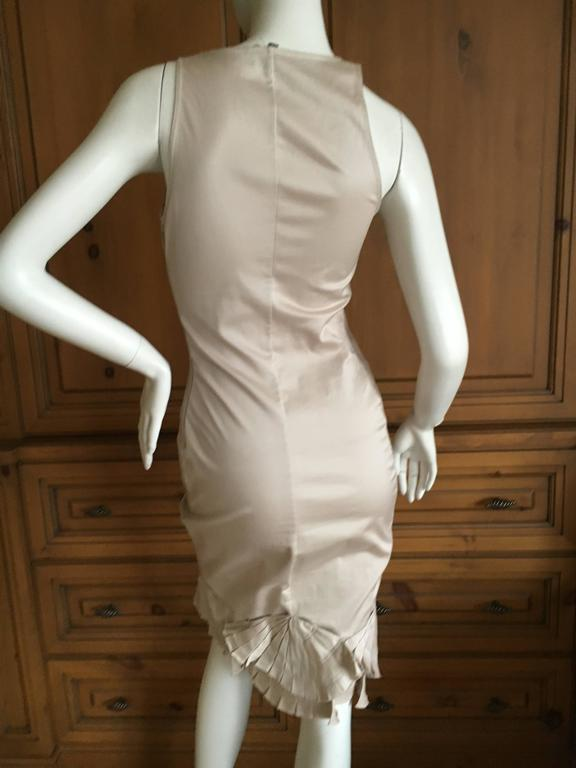 Gray Gucci By Tom Ford Dress And Jacket With Fan Tail Pleating For