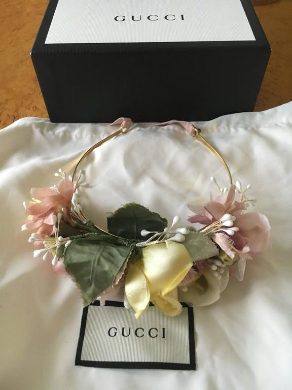 Gucci 2016 Floral Headband by Alessandro Michele New in Box. Perfect for a wedding or festival.