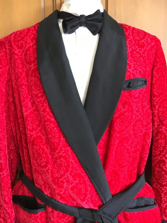 Get Discounts on Sku#VIN_ T2FF Red Two Button Notch Party Smoking Jacket Blazer Tuxedo Suit + Free Black Pants (Velvet or Suit Fabric)/5(89).