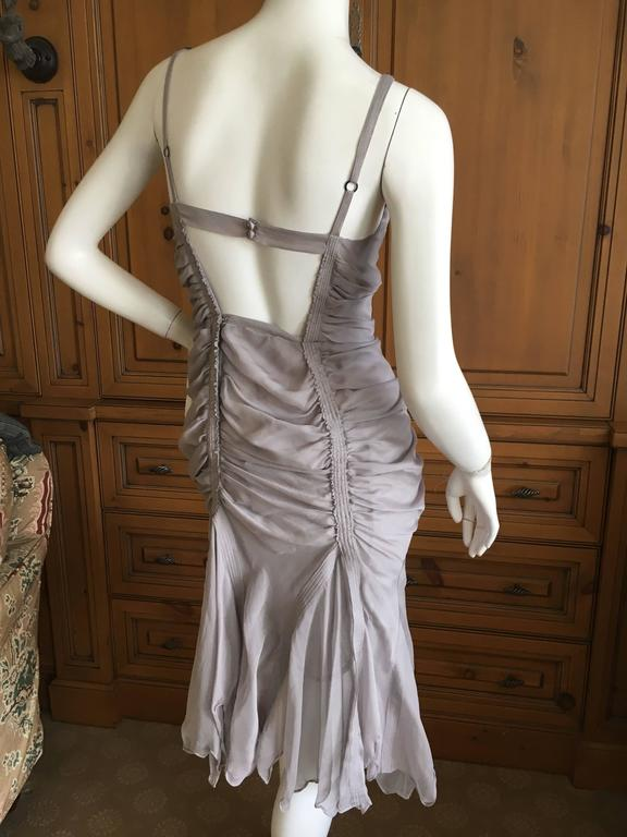 Yves Saint Laurent by Tom Ford Gray Gathered Dress 2003 4