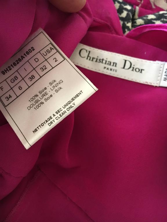 Christian Dior by John Galliano Raspberry Silk Chiffon Tunic or Mini Dress For Sale 2