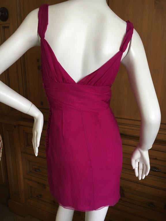 Christian Dior by John Galliano Raspberry Silk Chiffon Tunic or Mini Dress For Sale 5