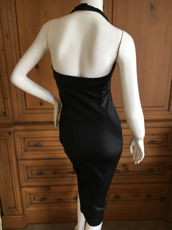 Christian Dior by Galliano Black Stretch Bodycon Knot Dress 5
