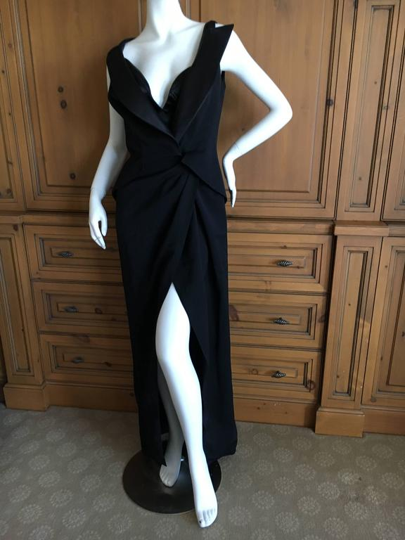 Women's Thierry Mugler Couture Tuxedo Dress and Corset 1988 For Sale
