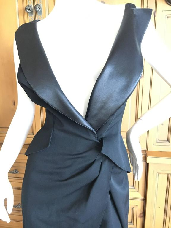 Exquisite tuxedo dress from Thierry Mugler Couture , circa 1988.