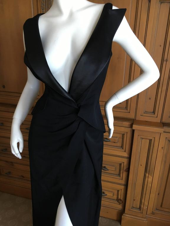 Thierry Mugler Couture Tuxedo Dress and Corset 1988 For Sale 4