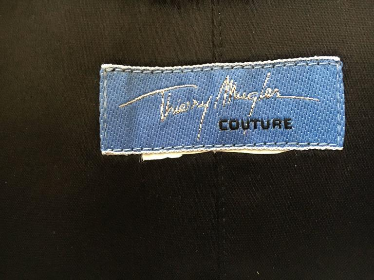 Thierry Mugler Couture Tuxedo Dress and Corset 1988 For Sale 5