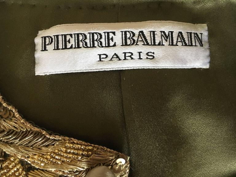 Balmain Haute Couture Lesage Embellished Dress or Jacket by Oscar de la Renta 9