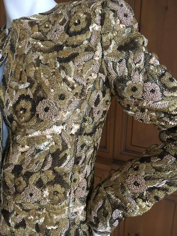 Balmain Haute Couture Lesage Embellished Dress or Jacket by Oscar de la Renta 3