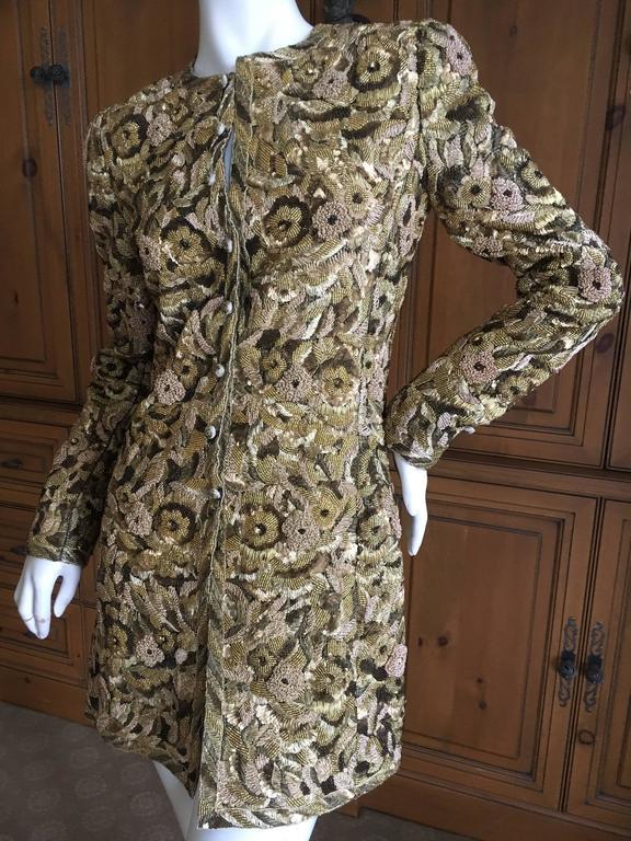 Balmain Haute Couture Lesage Embellished Dress or Jacket by Oscar de la Renta 4
