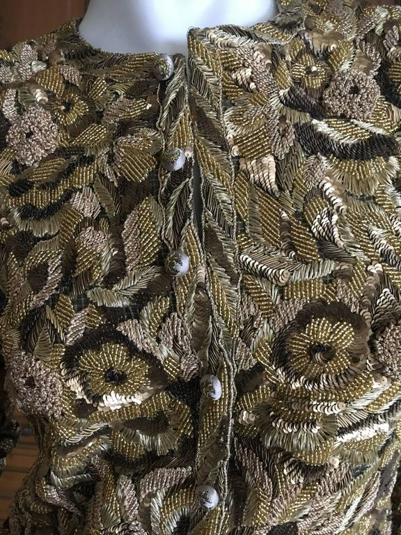 Balmain Haute Couture Lesage Embellished Dress or Jacket by Oscar de la Renta 5