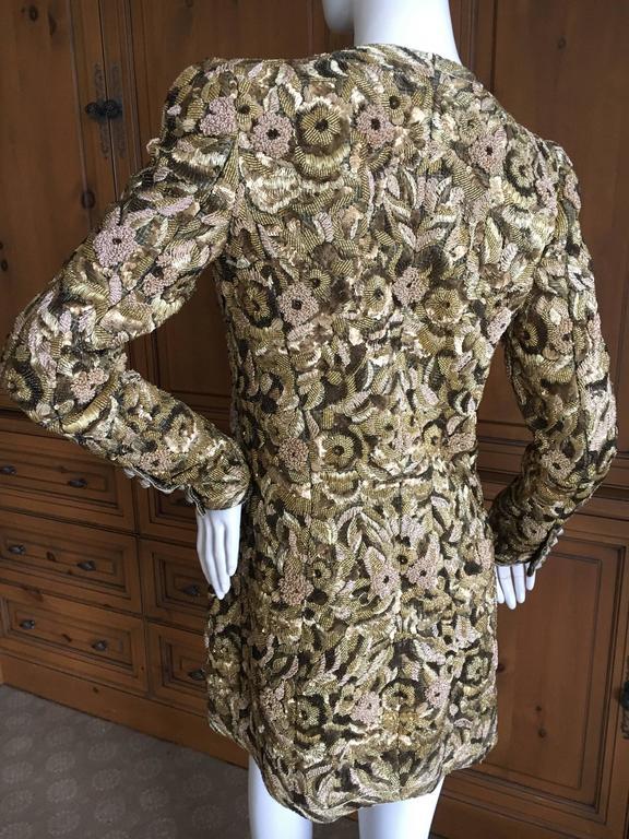 Balmain Haute Couture Lesage Embellished Dress or Jacket by Oscar de la Renta 6