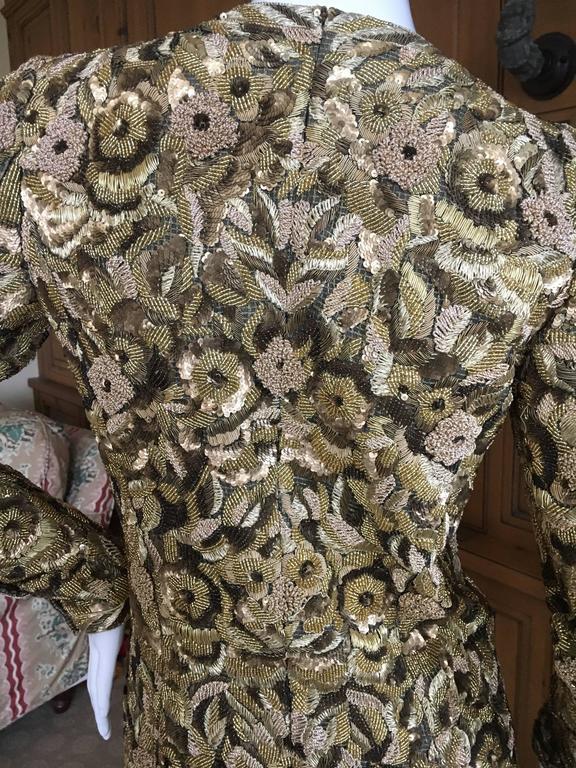 Balmain Haute Couture Lesage Embellished Dress or Jacket by Oscar de la Renta 7