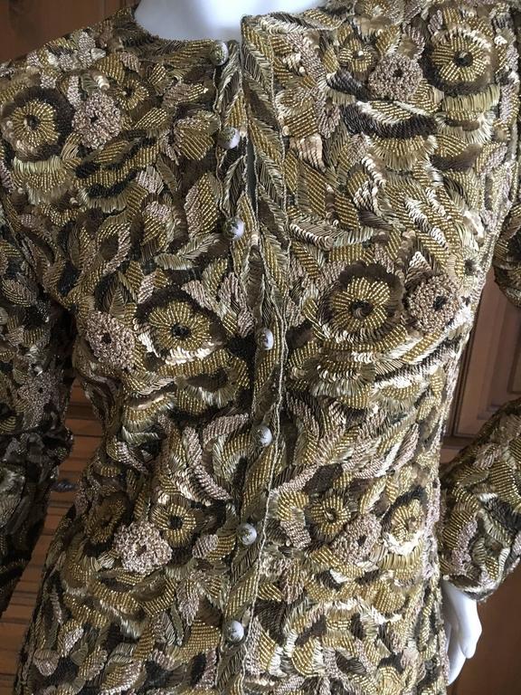 Balmain Haute Couture Lesage Embellished Dress or Jacket by Oscar de la Renta 8