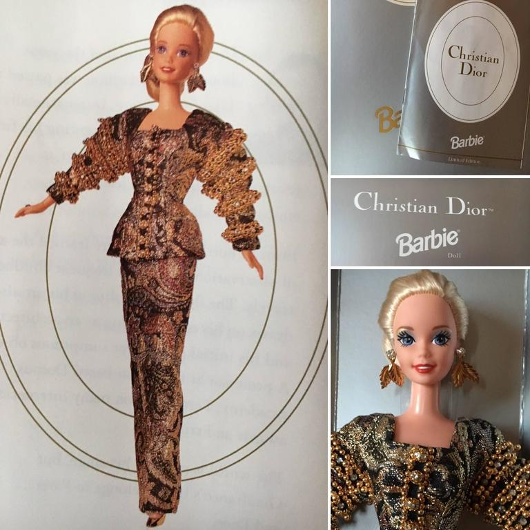 Christian Dior 1993 Haute Couture Barbie Doll by Gianfranco Ferre New in Box.