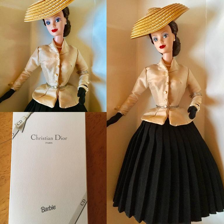"Christian Dior 50 Year Anniversary of the  ""New Look"" Barbie Doll New in Box 2"