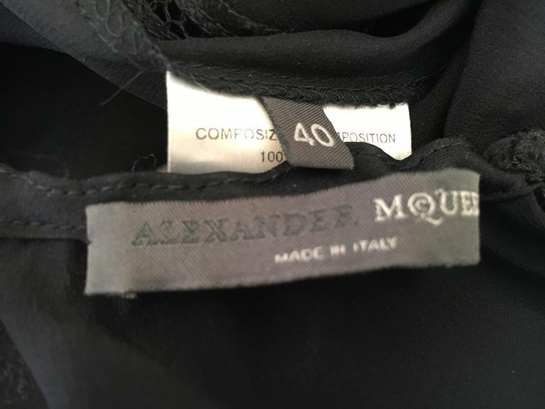 Alexander McQueen Fall 2002 Supercalifrgilistic Collection Little Black Dress 10