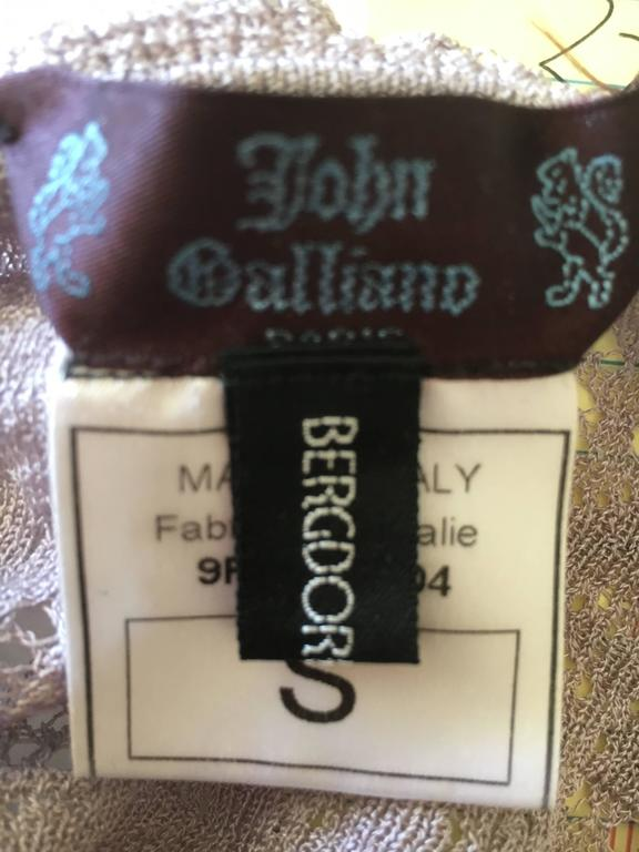 John Galliano for Bergdorf Goodman 1990's Button Front Lace Camisole 2