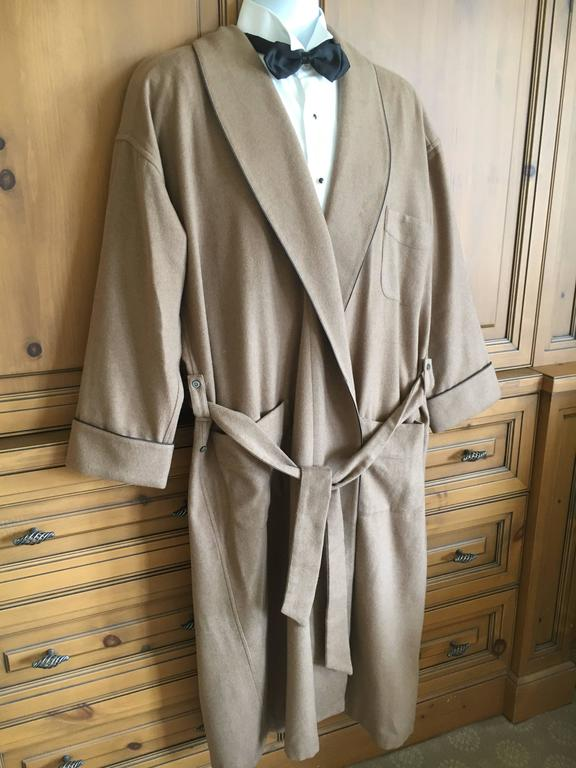 Brioni 100 Pure Cashmere Men S Long Robe 3495 With Tags