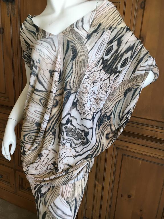 Alexander McQueen Spring 2009 Woodgrain Draped Batwing Long Dress 8