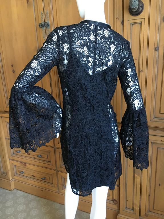 Mc Q Alexander McQueen Black Lace Bell Sleeve Dress 6