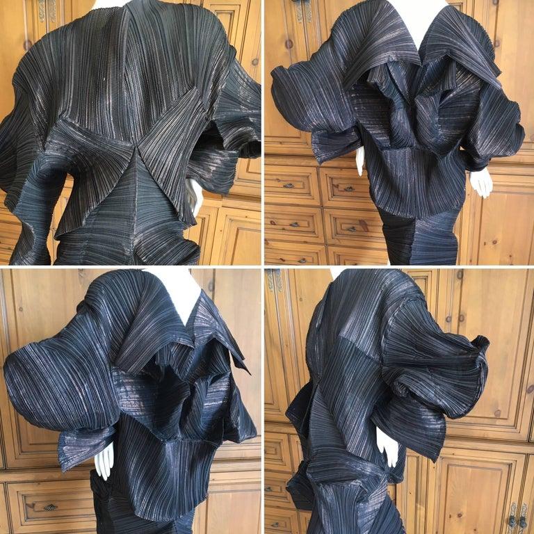 Issey Miyake Important Sculptural Black Vintage Dress For Sale 5