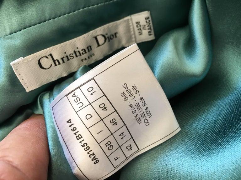 Christian Dior by John Galliano Exquisite Low Cut Silk Evening Dress  8
