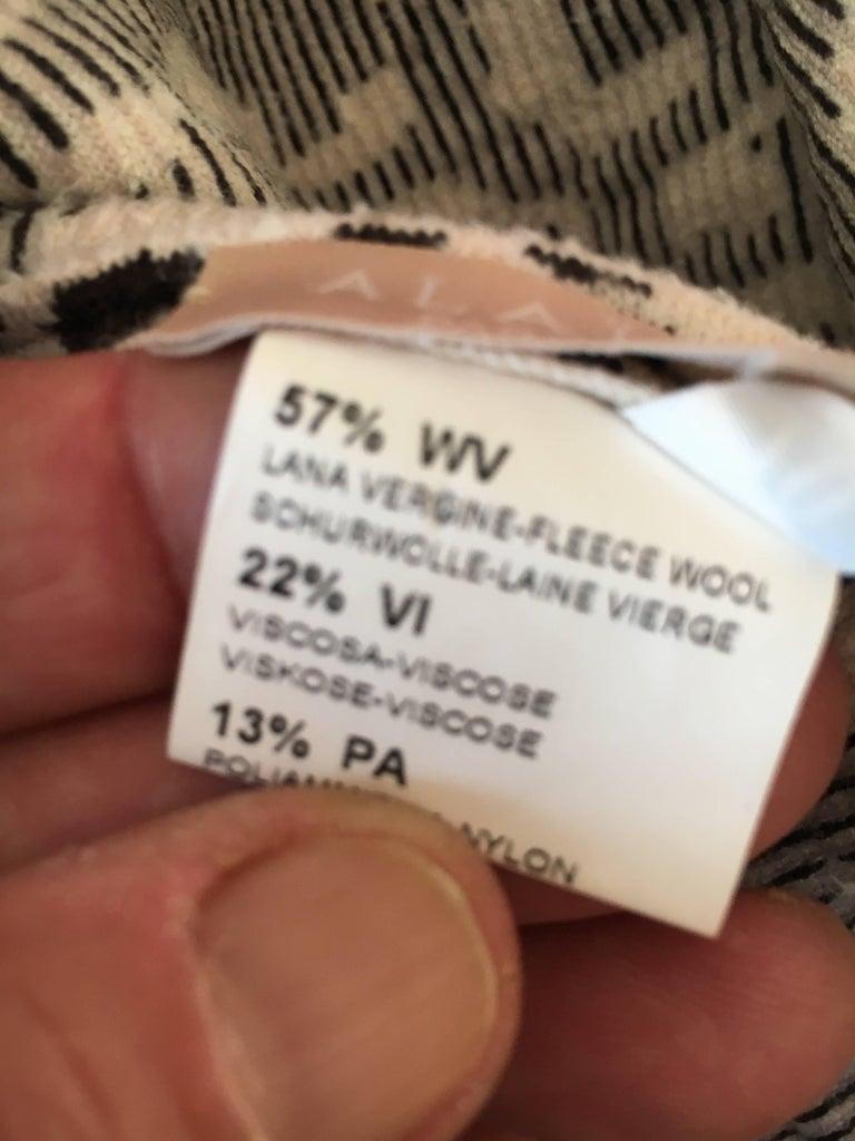 Azzedine Alaia Snow Leopard Sleeveless Dress Size 40  New For Sale 2