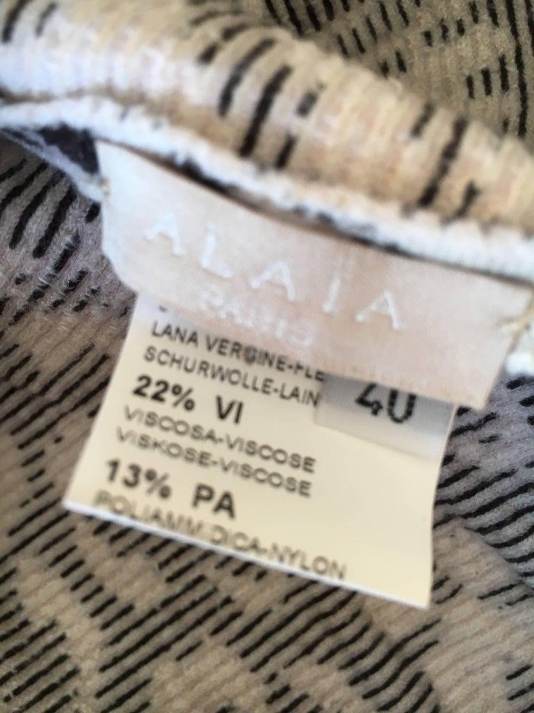 Azzedine Alaia Snow Leopard Sleeveless Dress Size 40  New For Sale 1