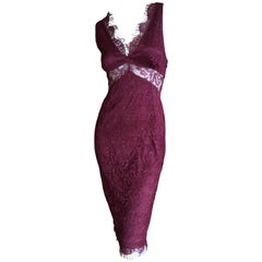 D&G Dolce & Gabbana Vintage Lace Overlay Sheer Cocktail Dress