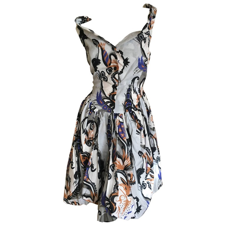 "Vivienne Westwood Paisley Cotton ""Bubbly"" Day Dress for Anglomania Size 42 NWT"