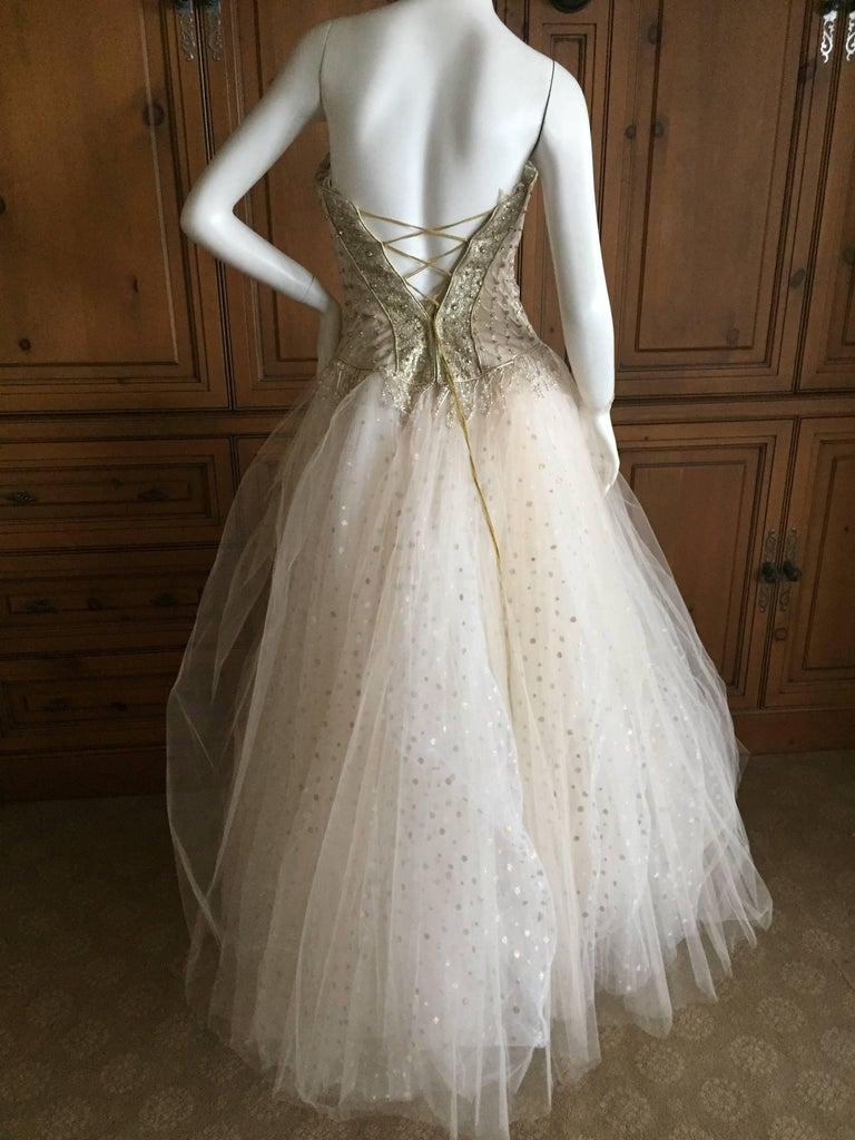 Bob Mackie Beaded Bustier Ballerina / Wedding Dress at 1stdibs