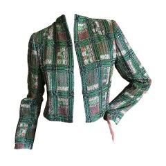 Bob Mackie Tartan Beaded jacket