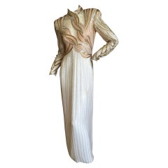 Bob Mackie Sheer Illusion Beaded Gown, 1970s