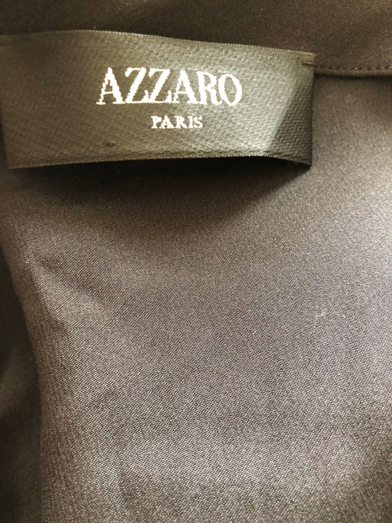 Azzaro Iconic Keyhole Backless Dress with Crystal and Cording Details For Sale 4