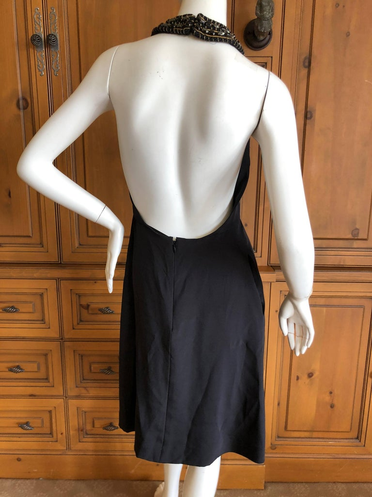 Azzaro Iconic Keyhole Backless Dress with Crystal and Cording Details For Sale 3